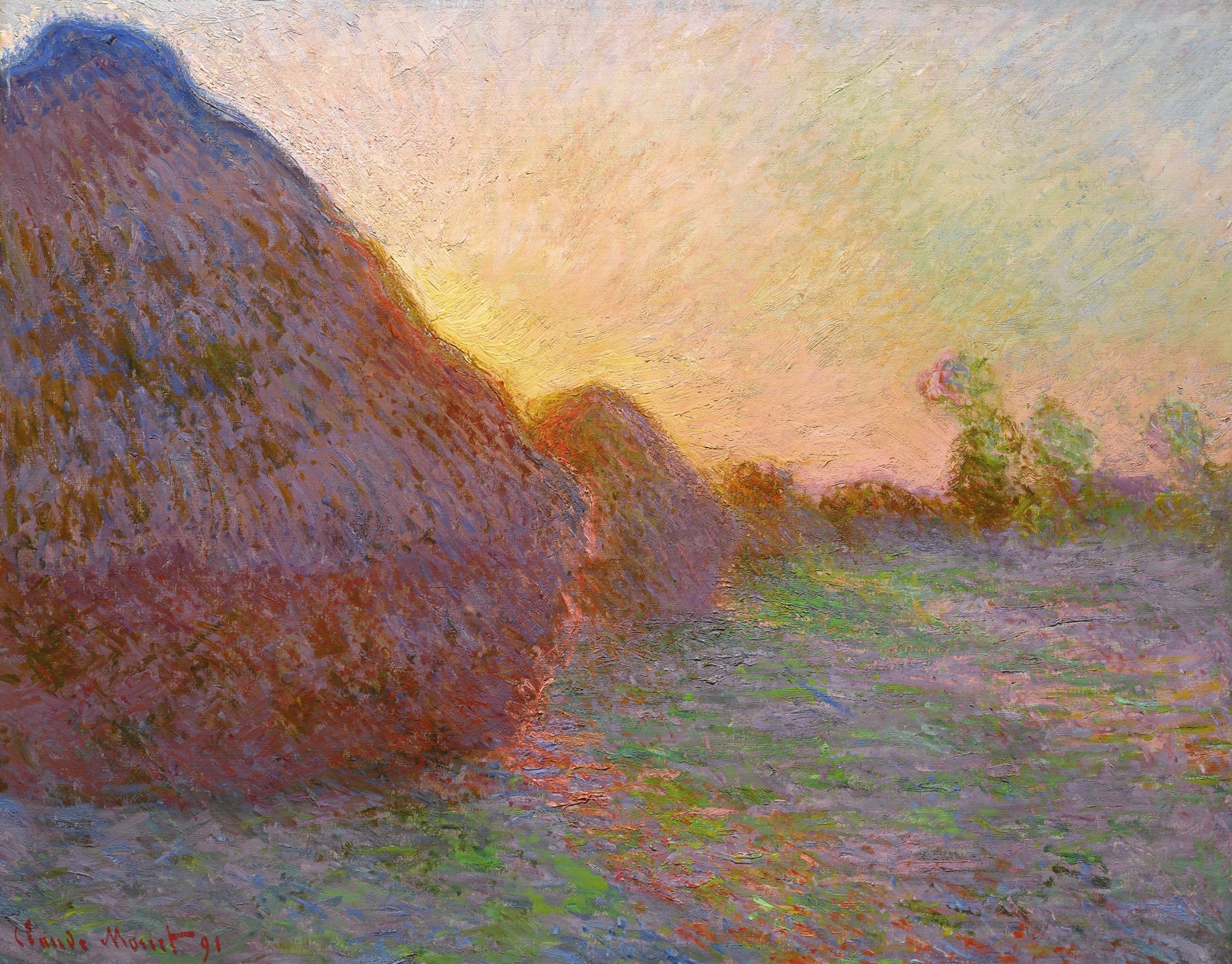 Photo of Claude Monet's Meules
