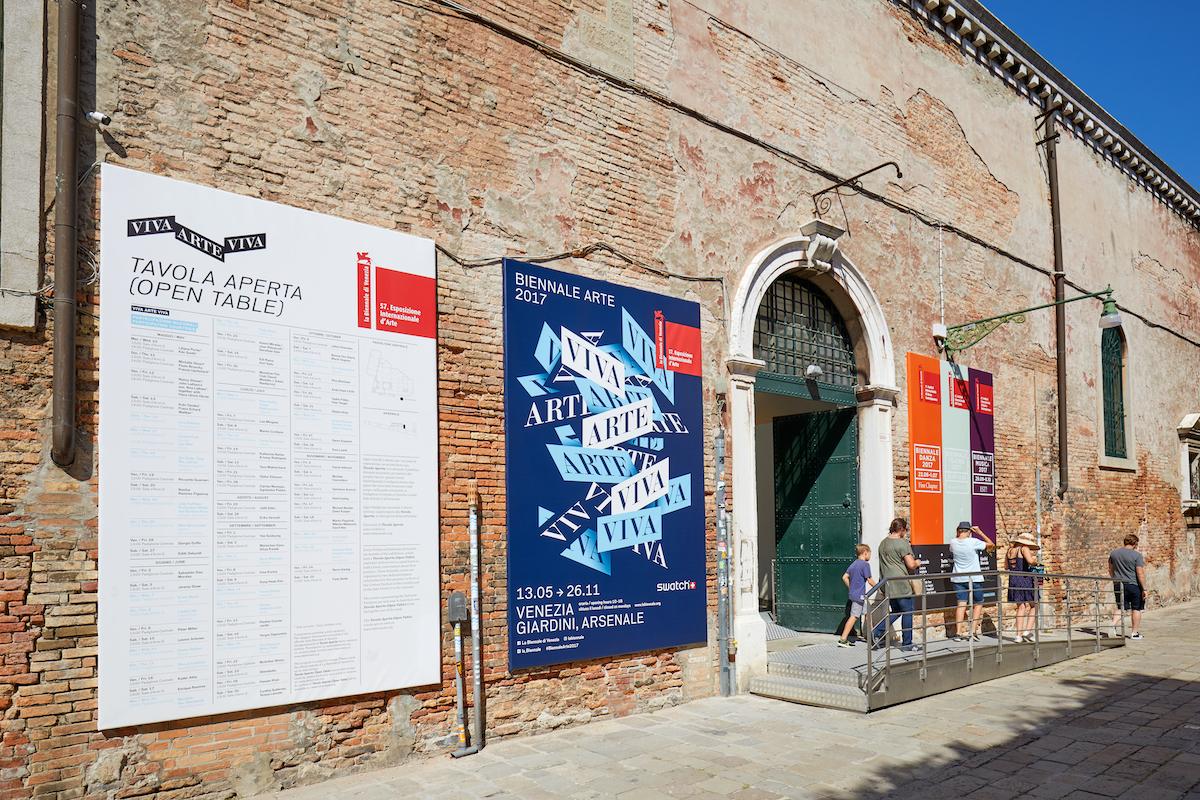 Outside the 2017 Venice Biennale